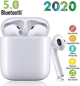 Bluetooth 5.0 Kopfh/örer TWS i12 In-Ear Ohrh/örer Kabelloser Kopfh/örer 3D Stereo Clear Sound Sicherer Sitz Touch Control IPX7 Wasserdicht Pop-Up Verbindung Auto Pairing mit IOS Android-Wei/ß