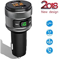 ACENX Bluetooth FM Transmitter Car Charger Adapter Kit w/ Hands-Free Calling