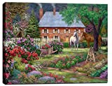 "Cheap Cortesi Home ""The Sweet Garden"" by Chuck Pinson, Giclee Canvas Wall Art, 12″ x 16″"