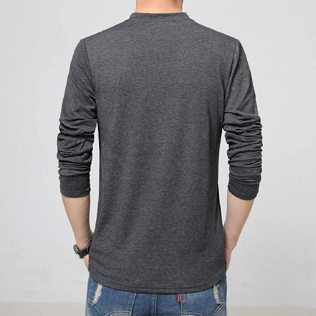 Coolred-Men Cozy Back Cotton Slim Casual Patchwork Lightweight T-Shirt Tops