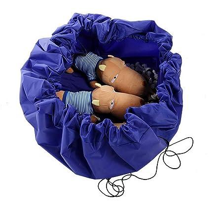 Spielzeugsack mit Drawstring Spieldecke Spielzeug Aufbewahrung Beutel Spielzeugaufbewahrung korb Speicher Tasche Wegreeco Kinder Aufr/äumsack