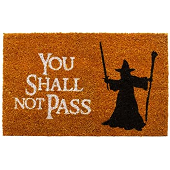 GetDigital Doormat You Shall Not Pass   Carpet Entrance Rug Front Door Welcome  Mat   Made From High Quality Natural Coco Coir Fibres   Perfect For Lord Of  ...