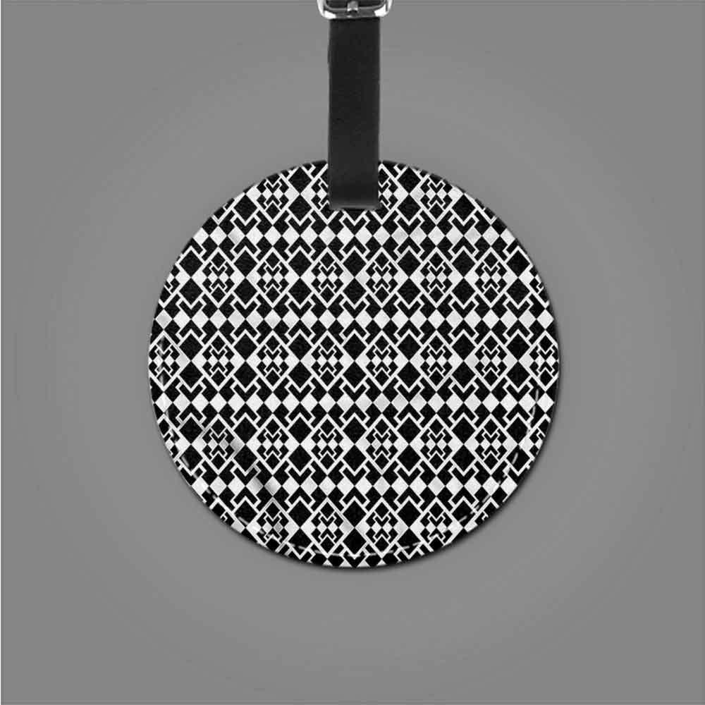 Favorite brand luggage tags Abstract,Geometric Rhombus Art Label Tag Address Holder