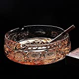 XY&GK Office decoration crystal glass ashtray creative boutique glass ashtray office decoration 15.5cm 5cm,with best service