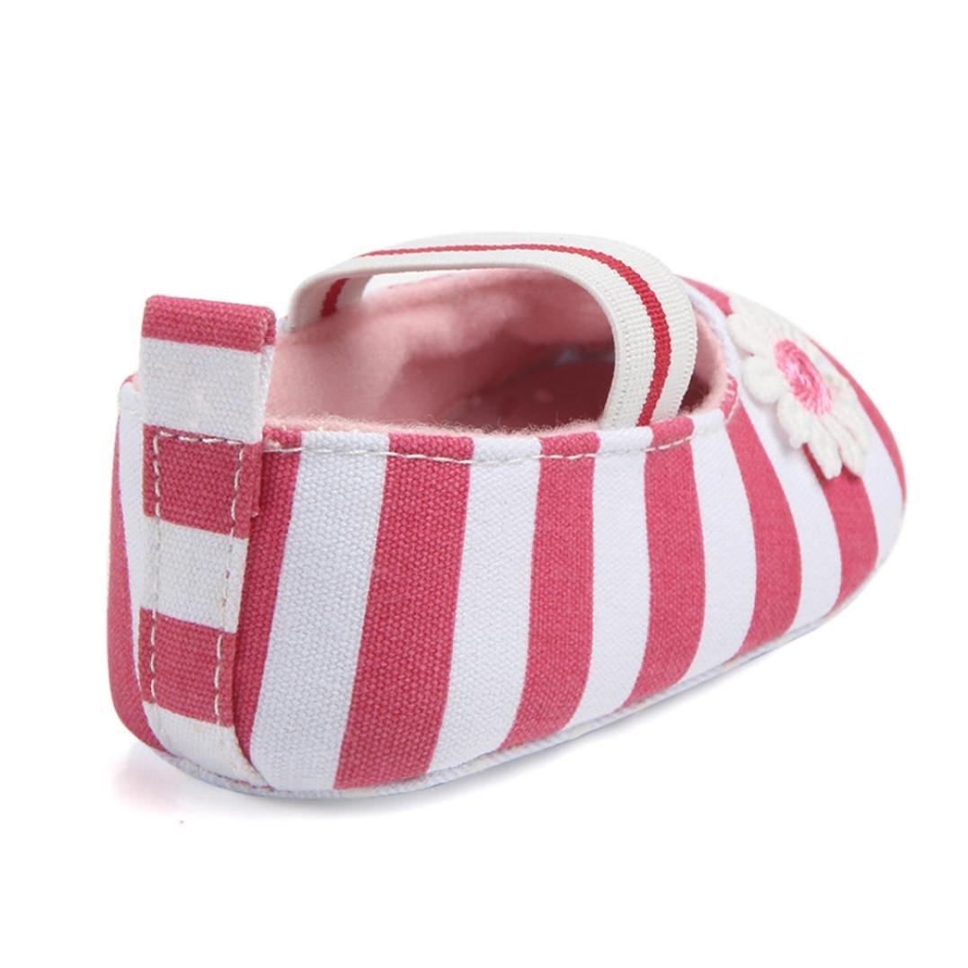 Voberry Baby Girls Soft Soled Crib Canvas Mary Jane Shoes
