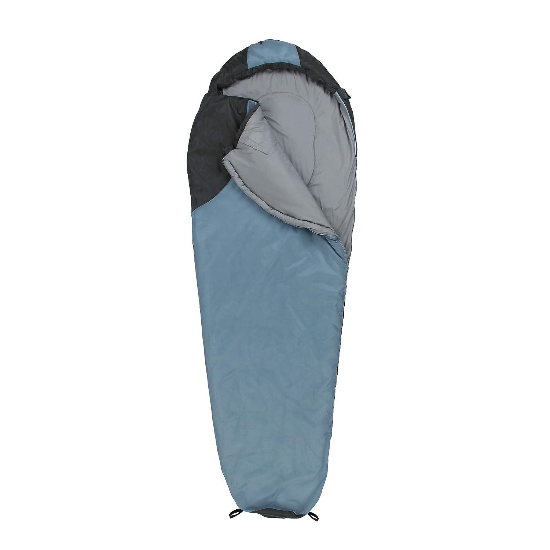 Grau 200g//m/² 10T Schlafsack Gurley 10/° warm weich 1200g leicht Mumienschlafsack 225x80 Blau