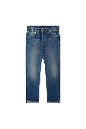 76728c26 Edwin ED-55 Regular Tapered Red Listed Selvage Jeans (Satomi Wash):  Amazon.co.uk: Clothing