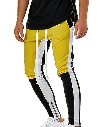 Pantalón para Hombre Cargo Slim Jogging Casual Pantalones Largo de ...
