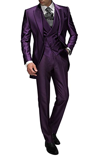 Suit Me Tailored Men Suit 3 piezas de traje de chaqueta de smoking chaqueta  de la boda a91ecc7108c