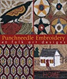 img - for Punchneedle Embroidery: 40 Folk Art Designs book / textbook / text book