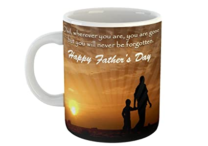 I Love My Dady Coffee Mug Gift For Dad Father Happy Fathers Day White
