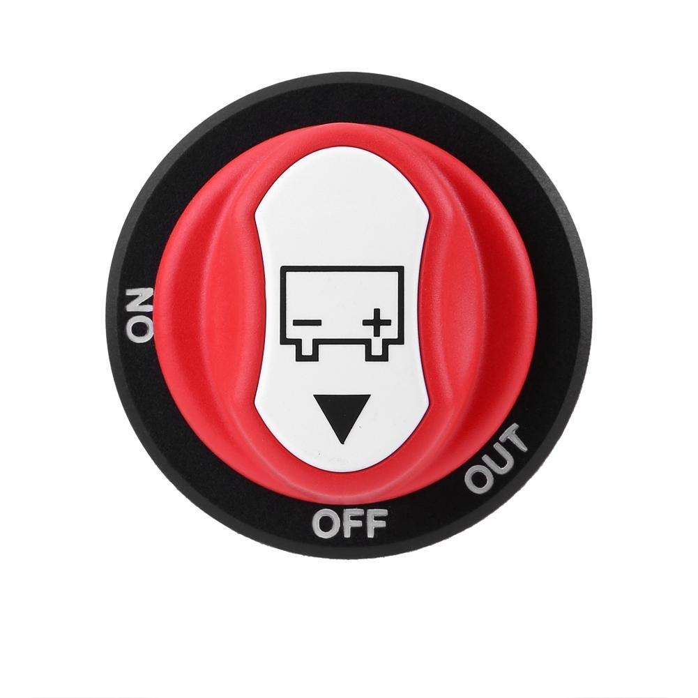 Universal Max 32V 100A CONT 150A INT Encendido//apagado Interruptor del aislador de bater/ía del autom/óvil Encendido//apagado Interruptor de apagado de la bater/ía para autom/ó