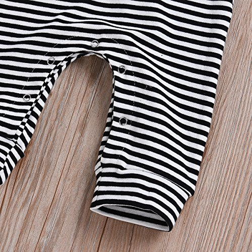 HappyMA Infant Newborn Baby Boy Girl Romper Striped Jumpsuit Sleeveless Outfit Summer Clothes