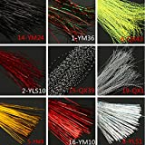 Bazaar 150PCS Choice of Colors Lure Tying Making With Crystal Flash Fly Tying Material