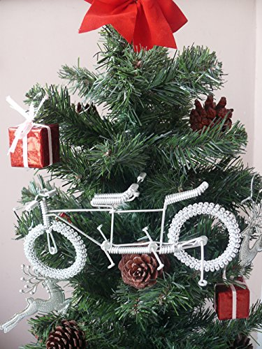 Gift Art Road Tandem LOVE Bike Model Wedding Christmas Tree Ornaments Decorations Decor Bicycle Cake topper Toys Artwork for Men/women/boys/girls/kids/cyclists/party supplies ()