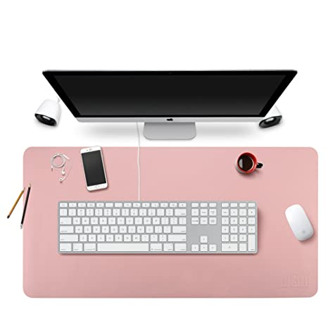 BUBM Office Desk Mat Leather Desk Pad Blotters Gaming Mouse Pad With Smooth  Surface,35.4u0026quot