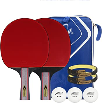 Ping pong padel - pack 2 raqueta de tenis de mesa pro premium sistema, 3 pelotas, Profesional