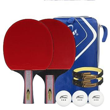 Ping pong padel - pack 2 raqueta de tenis de mesa pro ...