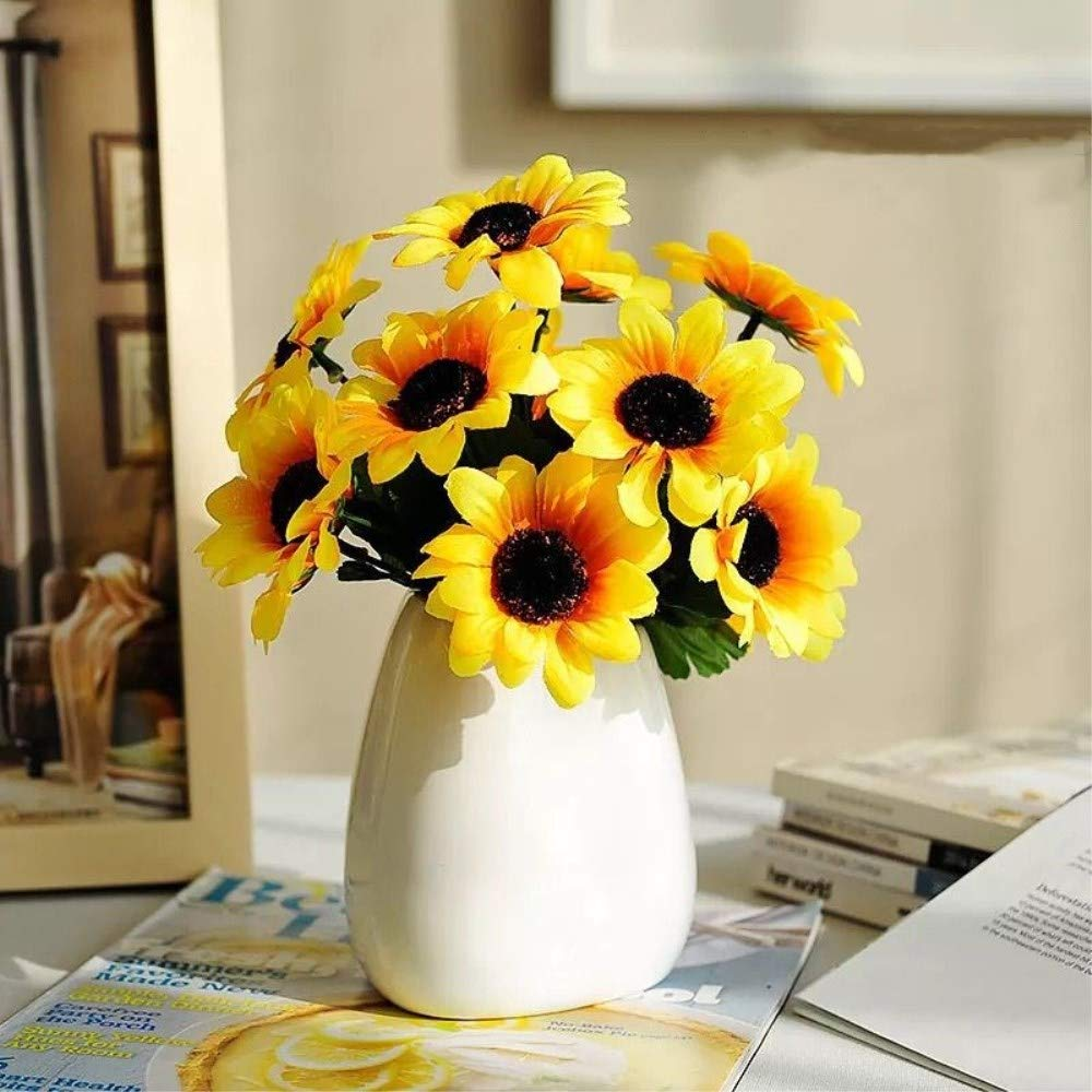Amazon Asika Artificial Sunflowers Fake Flowers For Home