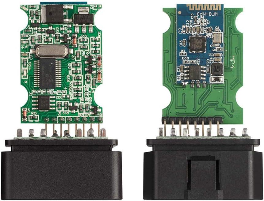 Peahop Dispositivo de diagn/óstico OBD2 ELM327 V1.5 Bluetooth//WiFi OBD2 V1.5 PIC18F25K80 Chip Herramienta de diagn/óstico autom/ático para Android//iOS//Windows