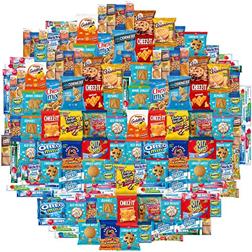 Snacks Care Package Mix Variety Pack of Chips, Cookies, Candy, Care Package to Friends and Family (150 Count) ()