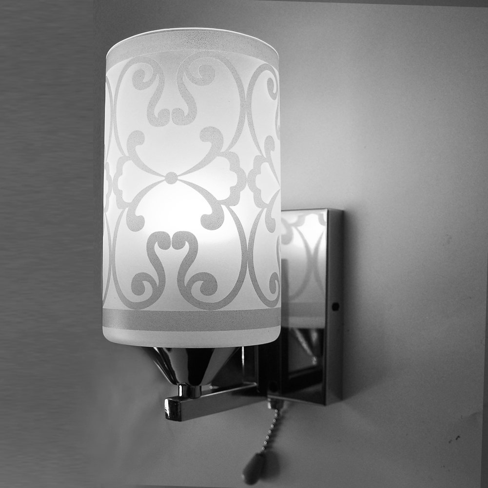 Elitlife Elegant style Modern Wall Light Lamp Pattern Indoor energy saving for Bedside Lamp/Stair Lamp/Wall Sconce/Living Room witn Pull line switch & 3W warm light bulb (Cool White) by Elitlife (Image #1)