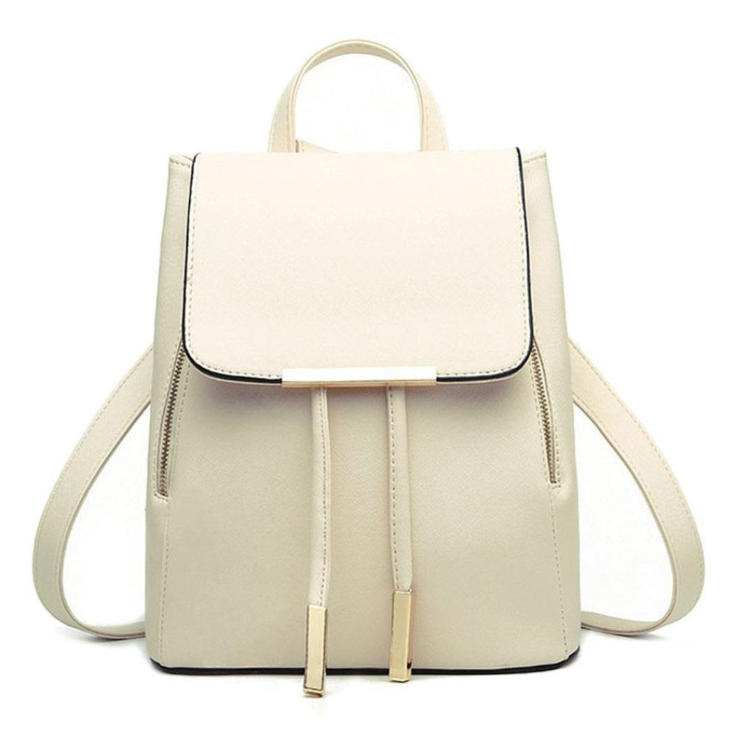 Festwolf Fashion Women Leather Backpacks Schoolbags Travel Shoulder Bag FTA-20