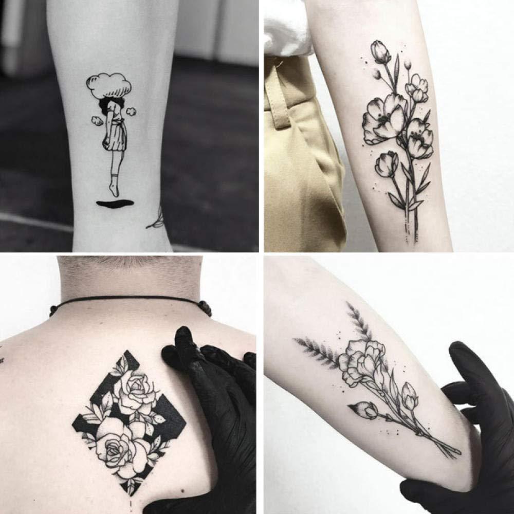 Etiqueta engomada del tatuaje, tatuaje letras tatuajes de tatuajes ...