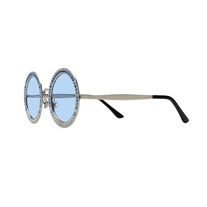 Amazon.com: Gafas de sol redondas para mujer con marco de ...