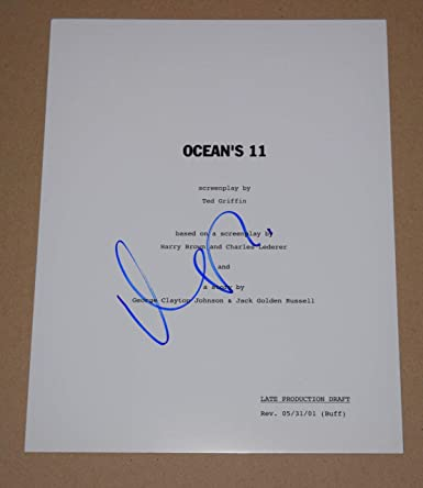 Matt Damon Signed Autographed OCEAN'S 11 Full Movie Script
