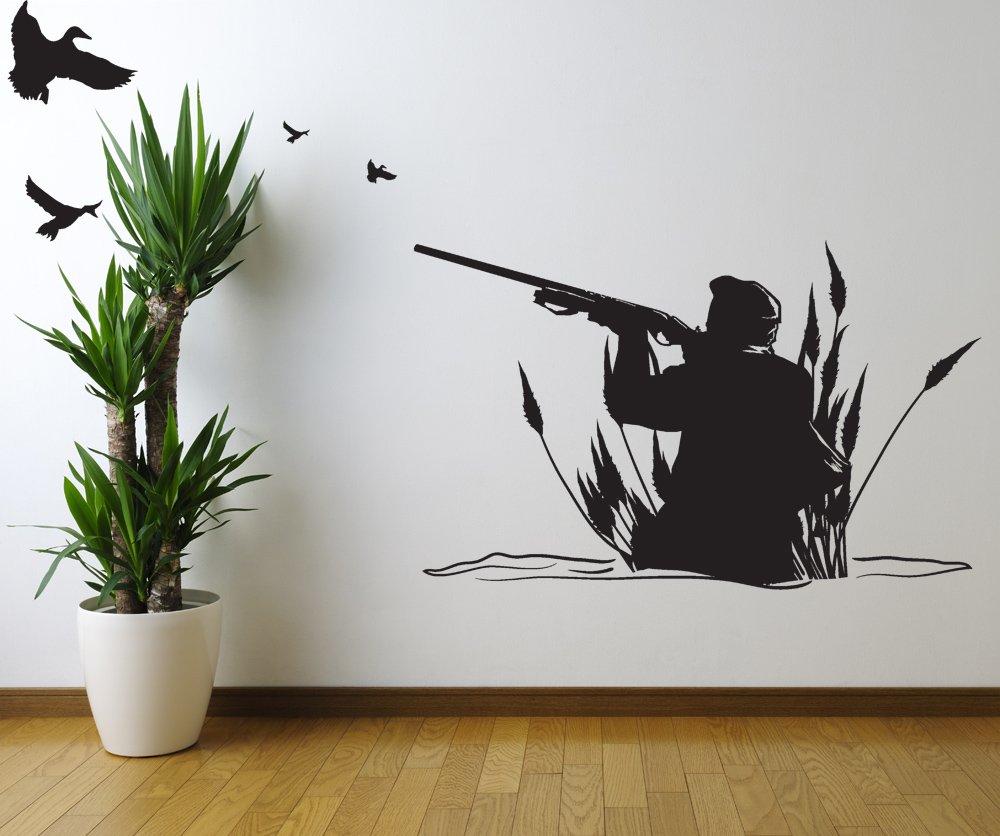 Amazon.com: Stickerbrand Hunting & Fishing Vinyl Wall Art Duck ...