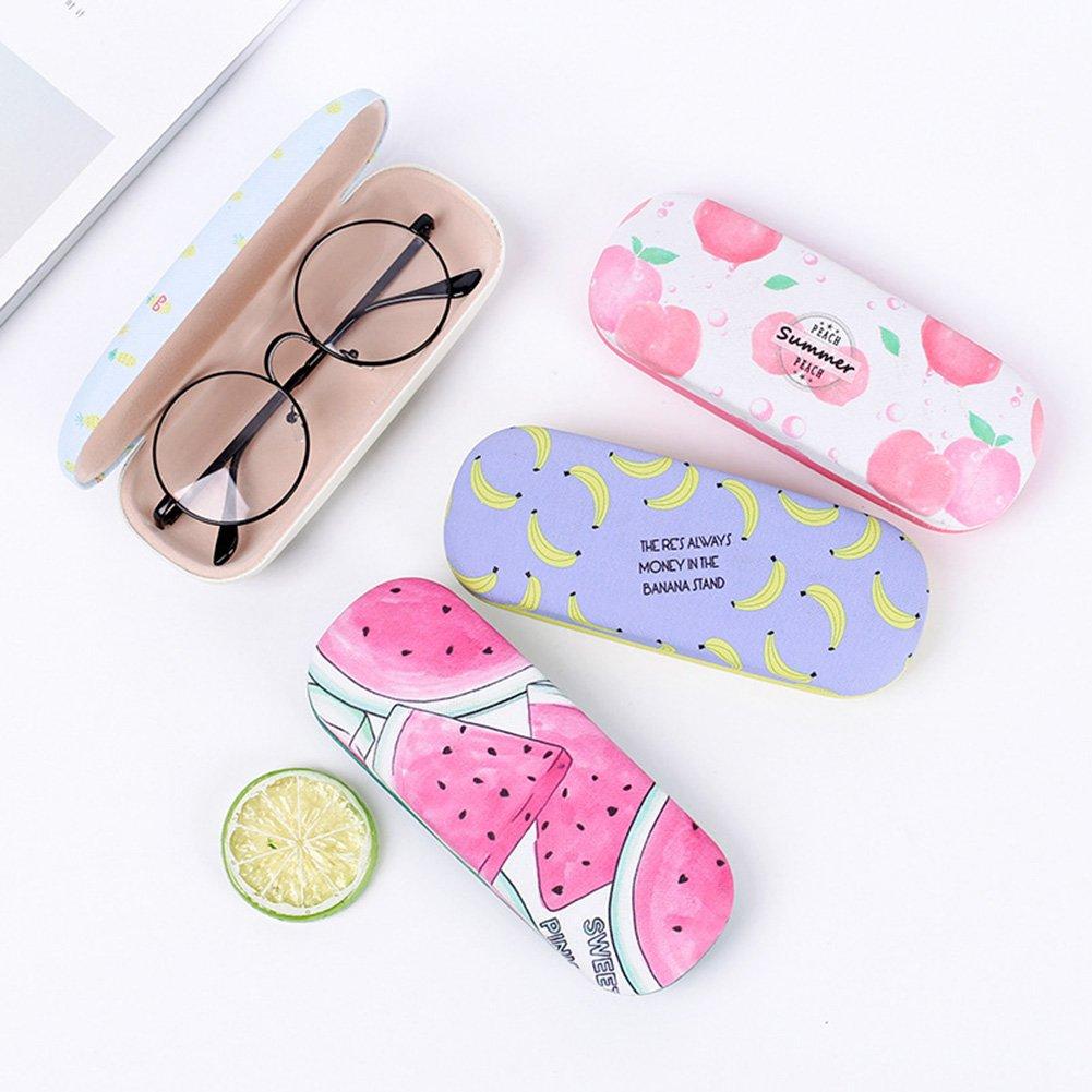 ShiningLove Portable Cute Cartoon Fruits Pattern Eye Glasses Shell Reading Myopia Glasses Hard Case Protector Box
