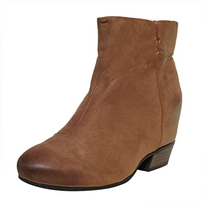 Women's Martyr01 Faux Suede Almond Toe Hidden Wedge Bootie