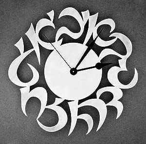 ساعة حائط خشبية (35) سم
