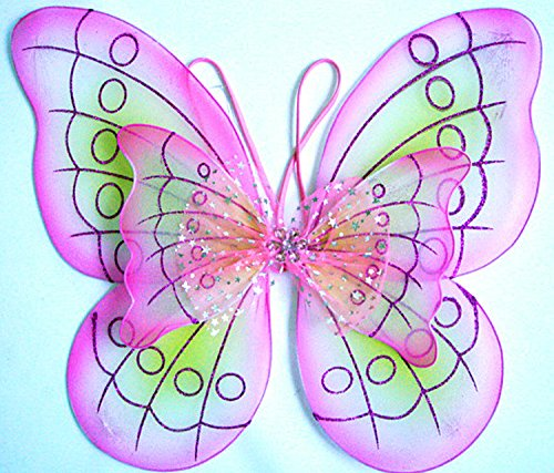 Fairie Wings (Pink Butterfly Costume Dress-up Wings)