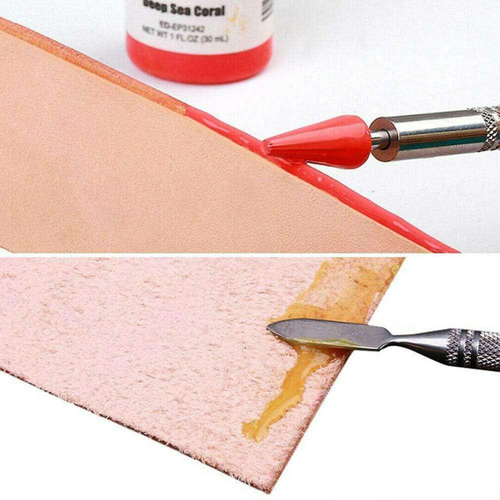 LQKYWNA Cuir Bord Dye Pen DIY Rouleau Applicateur Peinture /à lhuile Faire Craft Outil De Finition Ceinture
