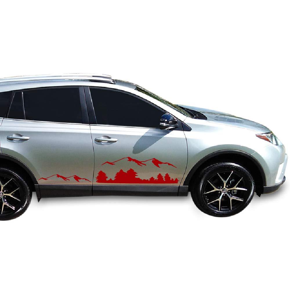 Amazon com bubbles designs set of off road mountain decal sticker vinyl for toyota rav4 2013 2017 black automotive