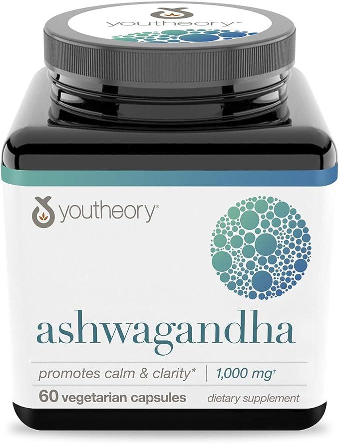 Youtheory Ashwagandha 60 Capsules