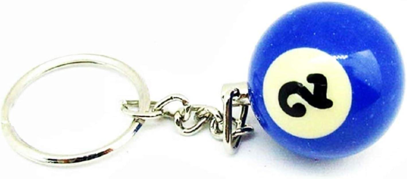 Llavero Bola de Billar - Mujer - número - nr.2 - Carambola - Hombre - niño niña - Idea de Regalo Original - Unisex - Gadget - Llavero: Amazon.es: Equipaje