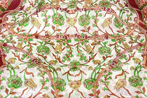 Foulard Gamme Traditional de Soie Motif Bijul Red de Pashmina & Silk