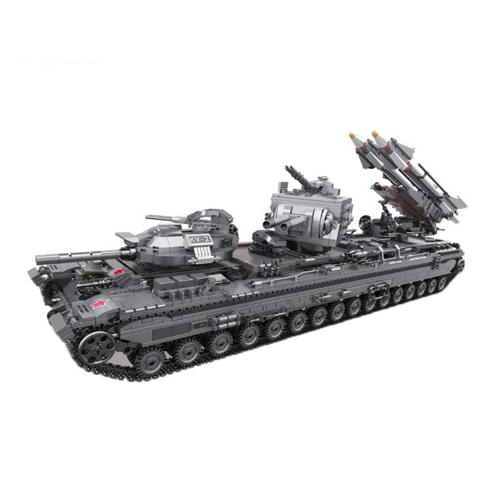 大割引 子供のおもちゃ、建物のブロック啓発の教育玩具(6歳以上の子供)に組み立てられ 挿入された重いタンクの戦車のモデルは   B07KQD3XPT, 東京うこっけい 田中農場:06a8a01d --- a0267596.xsph.ru