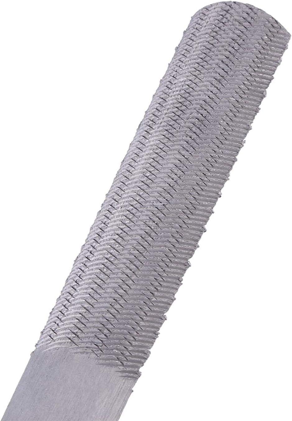 DULALA 4 in 1 Steel Rasp Woodworking Wood Hand Tool 8inch//200mm Steel Flat Rasp File Half-Round Carpentry