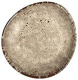 Melange 36-Piece 100% Melamine Dinner Plate Set (Rustic Egg Collection )   Shatter-Proof and Chip-Resistant Melamine Dinner Plates   Color: Cement