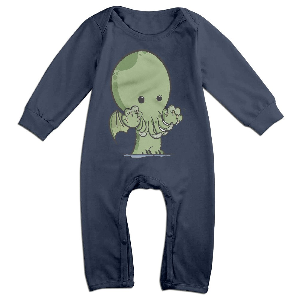 Love Cthulhu Octopus Baby Onesie Bodysuit Infant Romper