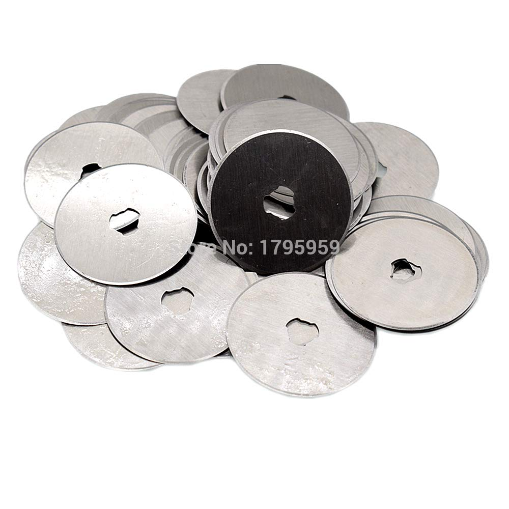 Kamisa 100pcs Rotary Cutter 45mm Refill Blade Sewing Quilting Photos Fabric Paper Vinyl Craft Cutting Tool Replacement Spare Blades Set by KAMISA