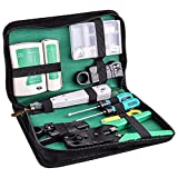 Kuman Network Cable Tester, RJ45 RJ11 Cat5 Wire Crimper Stripper with 10pcs Crystal Connctors Tool Set P9100