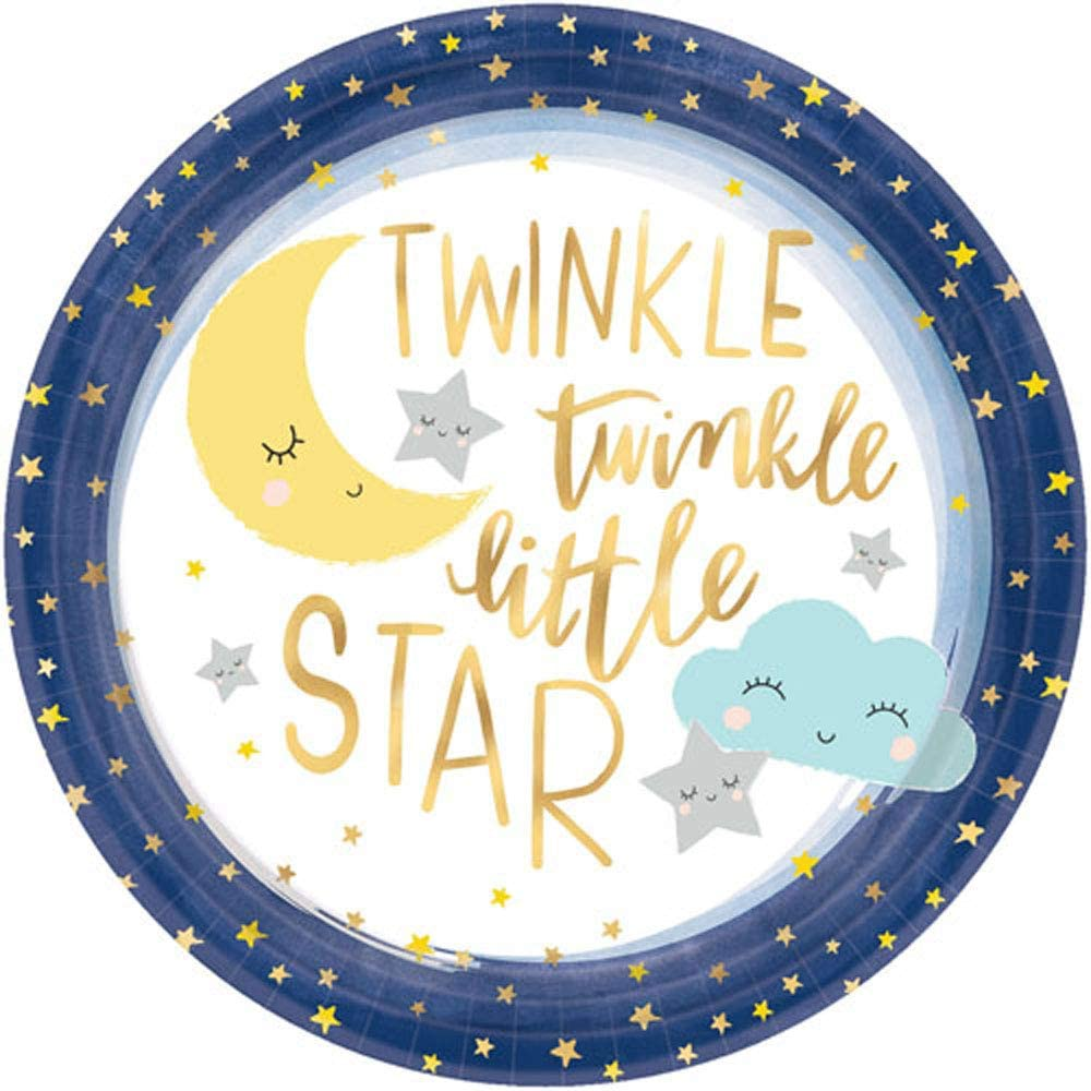 Baby Shower Twinkle Twinkle Little Star Small Paper Plates 8ct