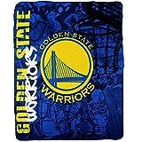 """NBA Lightweight Fleece Blanket (50"""" x 60"""") (Golden State Warriors)"""
