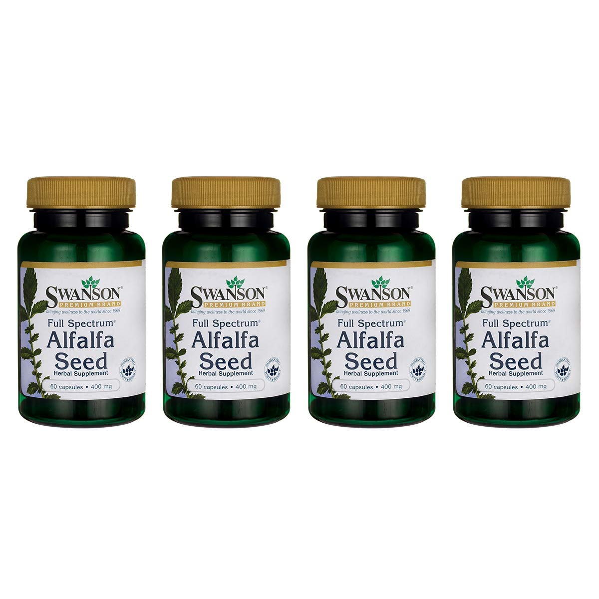 Swanson Full Spectrum Alfalfa Seed 400 Milligrams 60 Capsules (4 Pack)