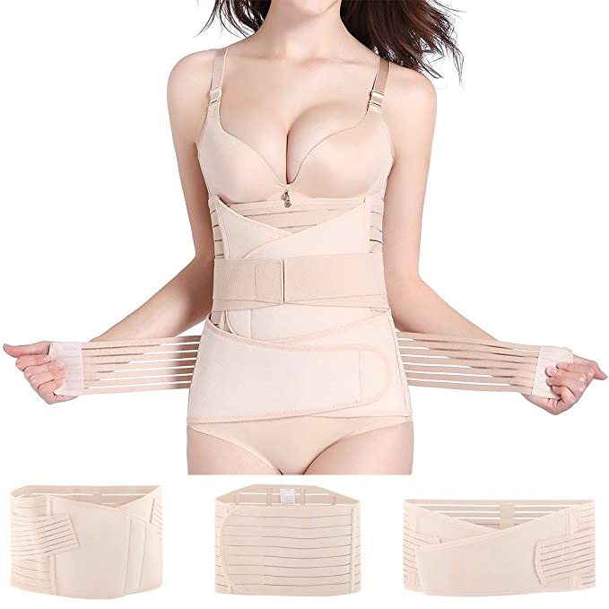 4ca984674671e Hip Mall 3 in 1 Postpartum Girdle Support Recovery Belly Wrap Postnatal  C-Section Belt